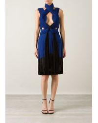 Dion Lee Pleated Interlock Dress - Lyst