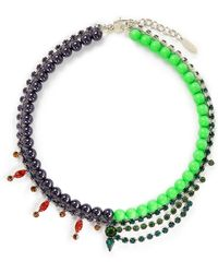 Joomi Lim - Crystal Bead Double Strand Necklace - Lyst