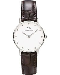 Daniel Wellington Classy Silver Watch - For Women purple - Lyst