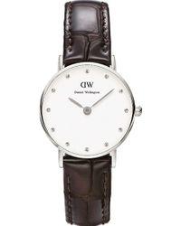 Daniel Wellington Classy Silver Watch - For Women purple - Lyst