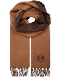 Loewe Anagram Detail Scarf - For Women brown - Lyst