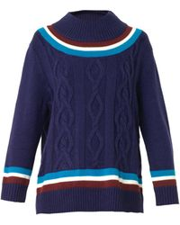 House Of Holland Crewneck Cricket Sweater - Lyst