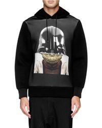Neil Barrett Darth Vader And Yoda Print Scuba Hoodie - Lyst