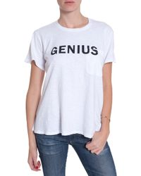 Textile Elizabeth And James Genius Bowery Tee - Lyst