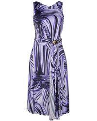 Versace Purple Knee-length Dress - Lyst