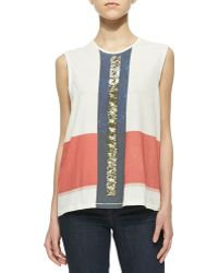 Sass & Bide - Really Knowing Sequined Slub Top - Lyst