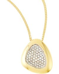 Roberto Coin - Capri Plus Diamond Pave Pendant Necklace - Lyst