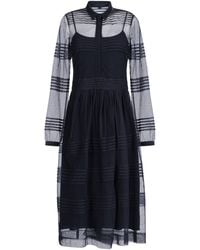 Burberry Prorsum 3/4 Length Dress black - Lyst