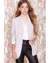 Nasty Gal Vintage Sonia Rykiel Luxx Blazer gray - Lyst