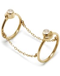 Pamela Love Gravitation Chain Ring In Brass - Lyst