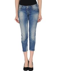 DSquared² Denim Capris - Lyst