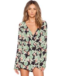 For Love & Lemons Aloha Top - Bird Of Paradise Black - Lyst