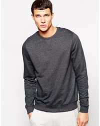 Asos Sweatshirt with Crew Neck - Lyst