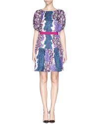 Peter Pilotto 'Roamer' Hydrangea Print Silk Dress - Lyst