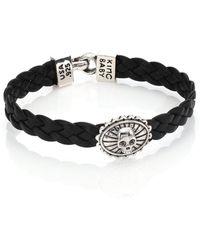 King Baby Studio   Braided Leather Concho Bracelet   Lyst