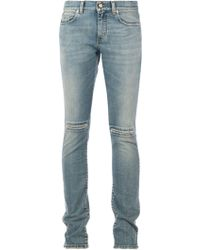 Saint Laurent Stone Washed Jeans - Lyst
