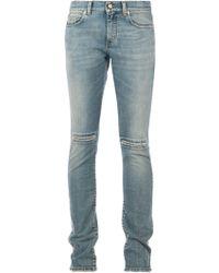 Saint Laurent Stone Washed Jeans - Lyst