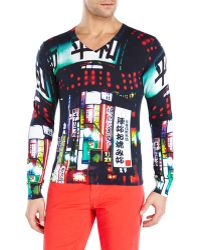 Love Moschino Print Sweater - Lyst