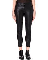 Ann Demeulemeester Peltry Slim Fit Trousers Black - Lyst