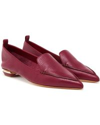 Nicholas Kirkwood Textured Calf Leather Loafers - Lyst