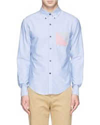 Band Of Outsiders Contrast Chest Pocket Oxford Shirt - Lyst