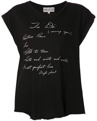 Wildfox Janes To Do List T-shirt - Lyst