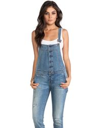 Free People Button Front Overall - Lyst