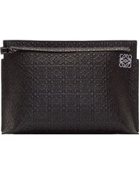 Loewe Black Large Engraved Pouch - Lyst