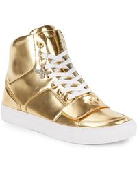 Creative Recreation Metallic Leather High Top Sneakers - Lyst