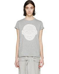 Stella McCartney Grey Embroidered Superhero T_Shirt - Lyst