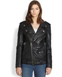 BLK DNM Freedom Printedback Leather Motorcycle Jacket - Lyst