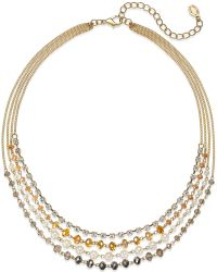 c.A.K.e. By Ali Khan - Gold-tone Four Row Loop And Link Necklace - Lyst