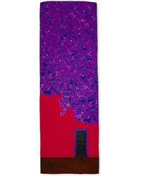 Akris - Casa Azul Cashmere Shawl Violet - Lyst