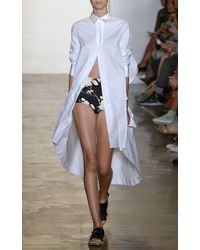 Peter Som Shirtdress with Asymmetrical Hem