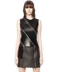 Alexander Wang | Leather Shell Top | Lyst