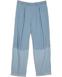 Raquel Allegra | Denim Pleated Pant | Lyst
