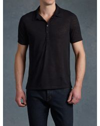 John Varvatos Short Sleeve Collared Shirt - Lyst
