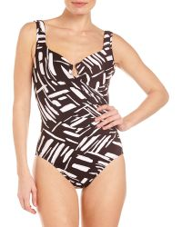 Miraclesuit Modern Love Escape One-piece Swimsuit - Lyst