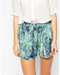 American Vintage - Printed Silk Shorts - Lyst