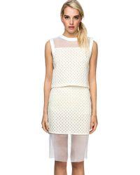 Pixie Market Clara Textured Two Piece Dress - Lyst