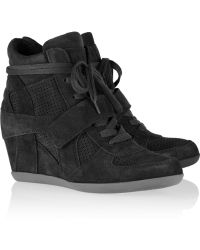 Ash Bowie Suede Wedge Sneakers - Lyst