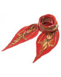 Hermès Pre-Owned Rocaille Pleated Scarf multicolor - Lyst