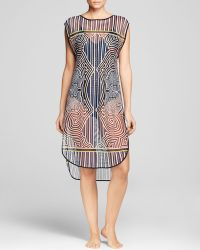Clover Canyon Striped Labyrinth Mesh Swim Cover Up - Lyst