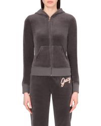 Juicy Couture Paradise Velour Hoody - For Women brown - Lyst