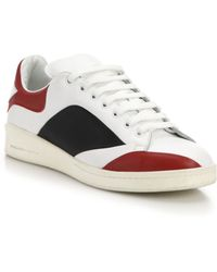 Alexander McQueen Leaf Leather Sneakers white - Lyst