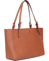 Tory Burch Saffiano Leather York Buckle Bag - Lyst