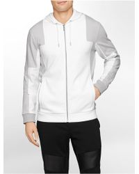 Calvin Klein White Label Classic Fit Lightweight Zip Front Hoodie white - Lyst