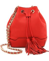 Rebecca Minkoff Lexi Exclusive Bucket Bag - Fire Engine Red - Lyst