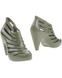 Melissa Shoe Boots green - Lyst
