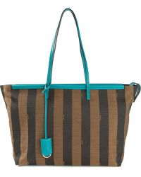 Fendi Pequin Striped Tote - Lyst